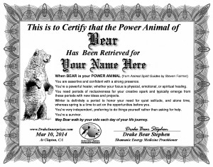 Power Animal Certificate