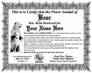 Power Animal Certificate